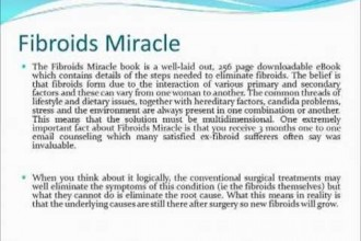 FIBROIDS MIRACLE REVIEW – IS AMANDA LETO FIBROIDS MIRACLE EBOOK A SCAM?